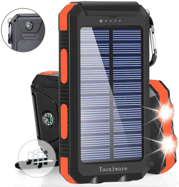 Solar Charger Solar Power Bank 20000mah Waterproof Portable