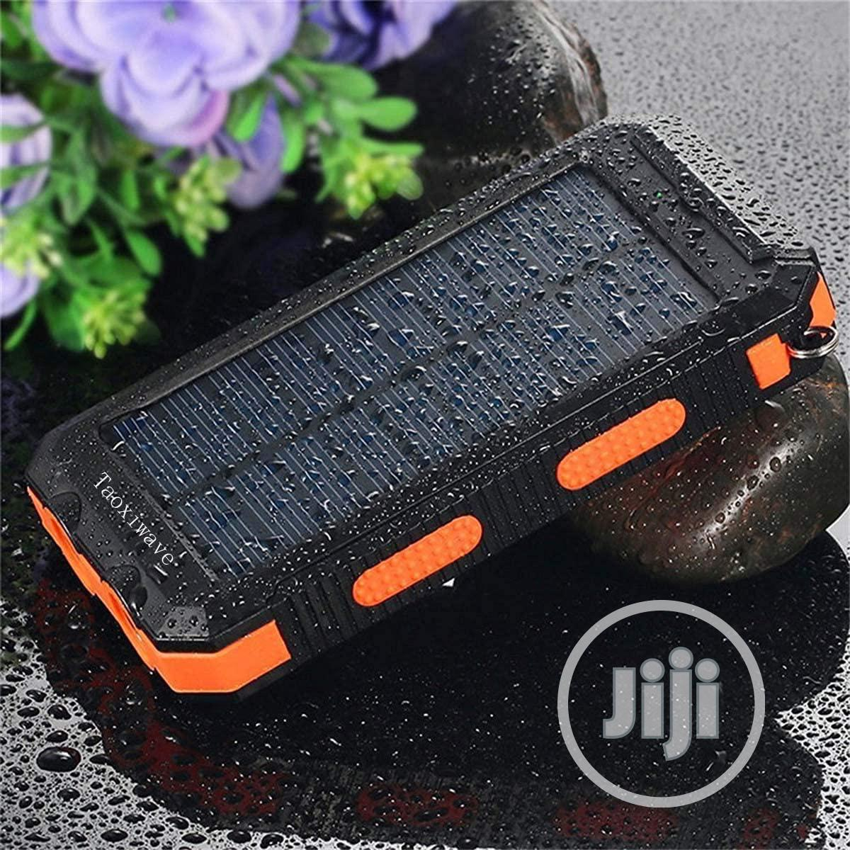 Solar Charger Solar Power Bank 20000mah Waterproof Portable   Accessories for Mobile Phones & Tablets for sale in Ikeja, Lagos State, Nigeria