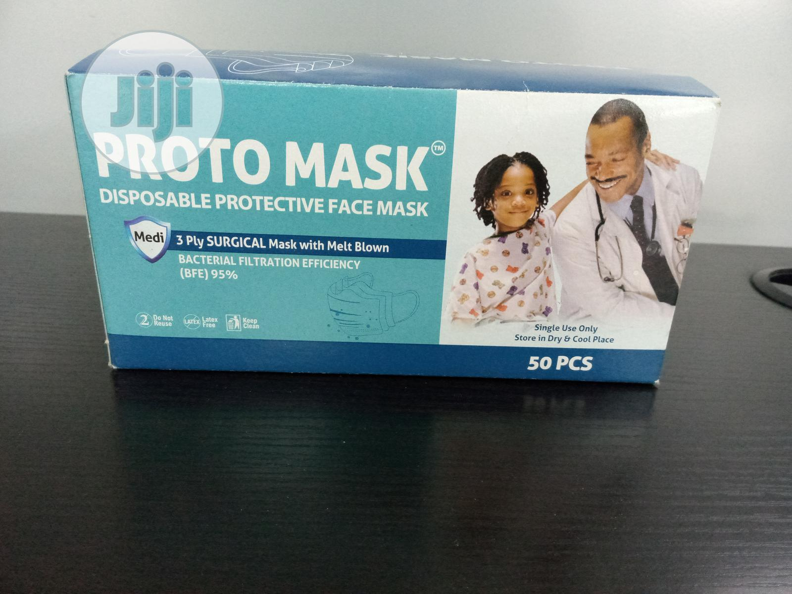 Facemask 3ply Excellent Quality   Medical Supplies & Equipment for sale in Ikeja, Lagos State, Nigeria
