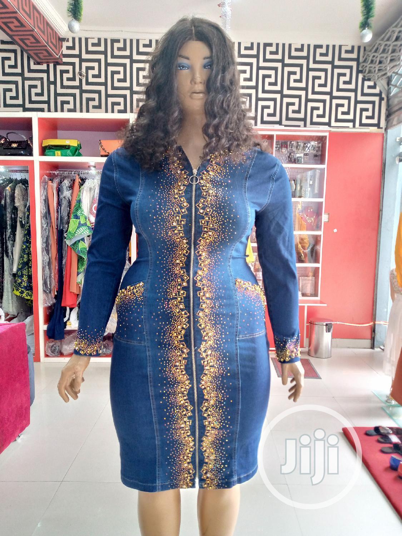 ORLANDO Embellished Jean Dress