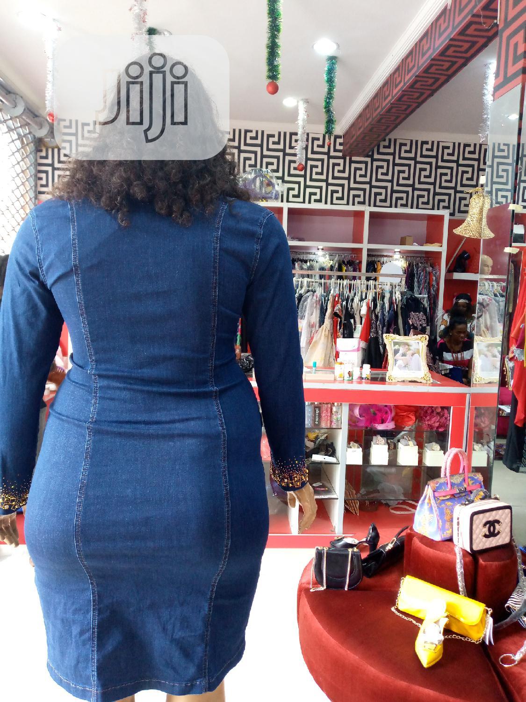 ORLANDO Embellished Jean Dress | Clothing for sale in Amuwo-Odofin, Lagos State, Nigeria