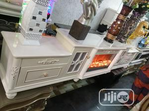 Portable Royal Fire Place TV Stand White   Furniture for sale in Lagos State, Lekki