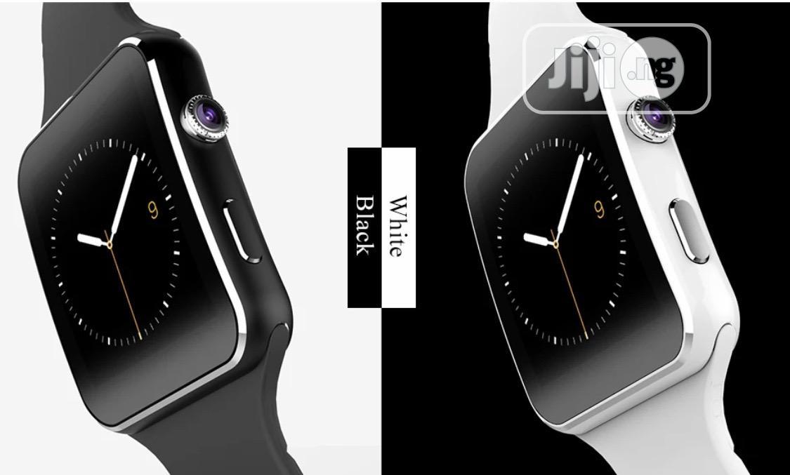 X6 Smart Watch With Sim and Memory Slot | Smart Watches & Trackers for sale in Ajah, Lagos State, Nigeria