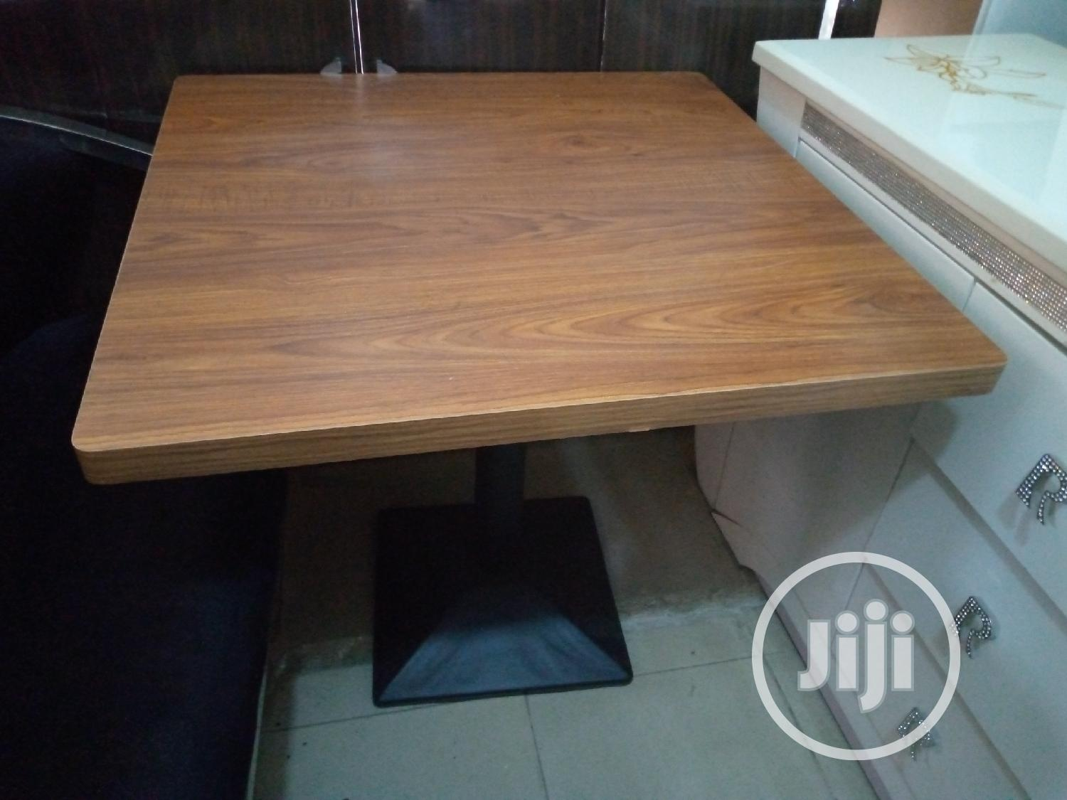 Wood Restaurant Table 80*80 Size   Furniture for sale in Lekki, Lagos State, Nigeria