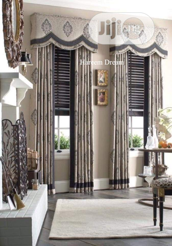 Curtain With Wooden Blind Inside