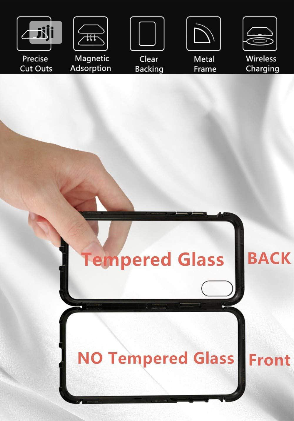 Magnetic Case for Huawei Y9(2019),Clear Tempered Glass Back   Accessories for Mobile Phones & Tablets for sale in Ikeja, Lagos State, Nigeria