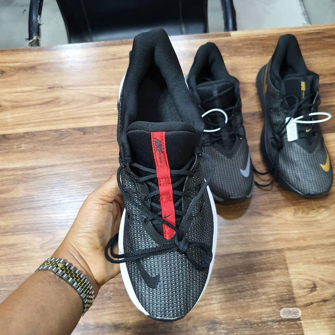 High Quality Nike Running Shoes  Grey/Black/White/Red | Shoes for sale in Surulere, Lagos State, Nigeria