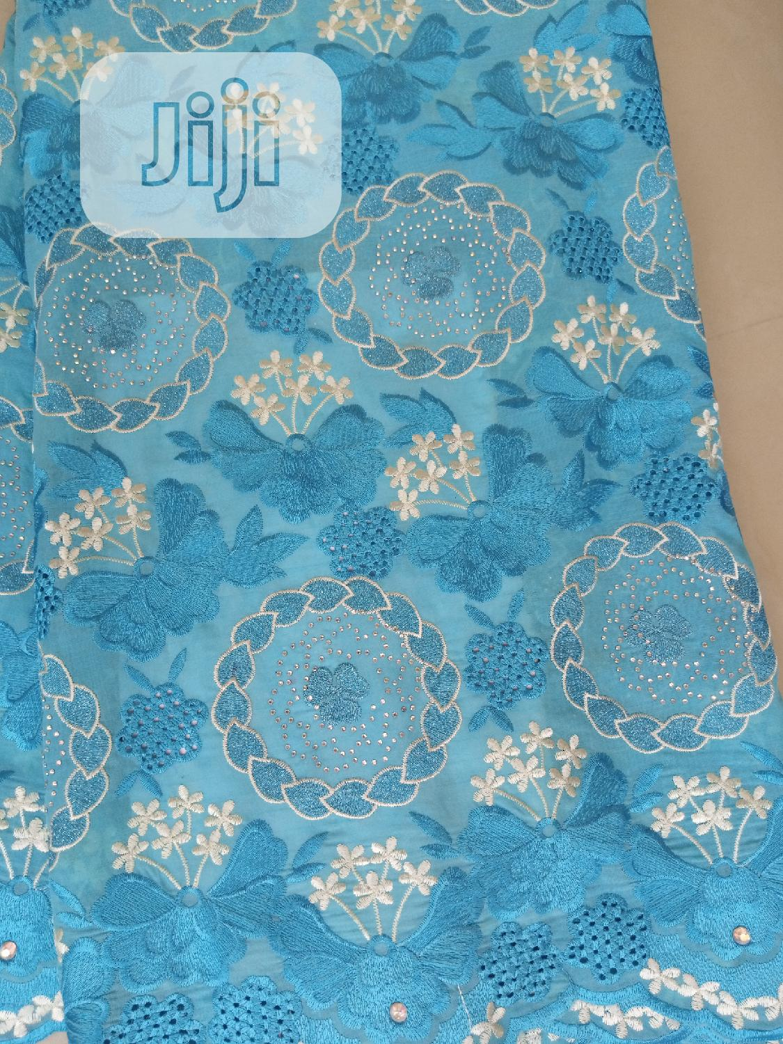 Swiss Stoned Voile Lace   Clothing for sale in Ikorodu, Lagos State, Nigeria