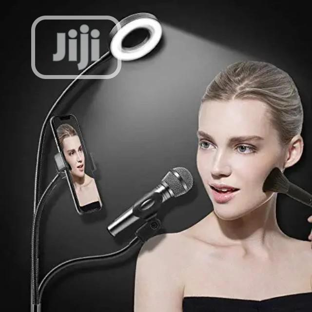Selfie Ring Light With Cell,Microphone Holder Live Stream