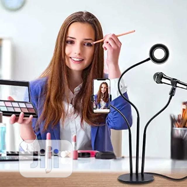 Selfie Ring Light With Cell,Microphone Holder Live Stream | Accessories for Mobile Phones & Tablets for sale in Surulere, Lagos State, Nigeria