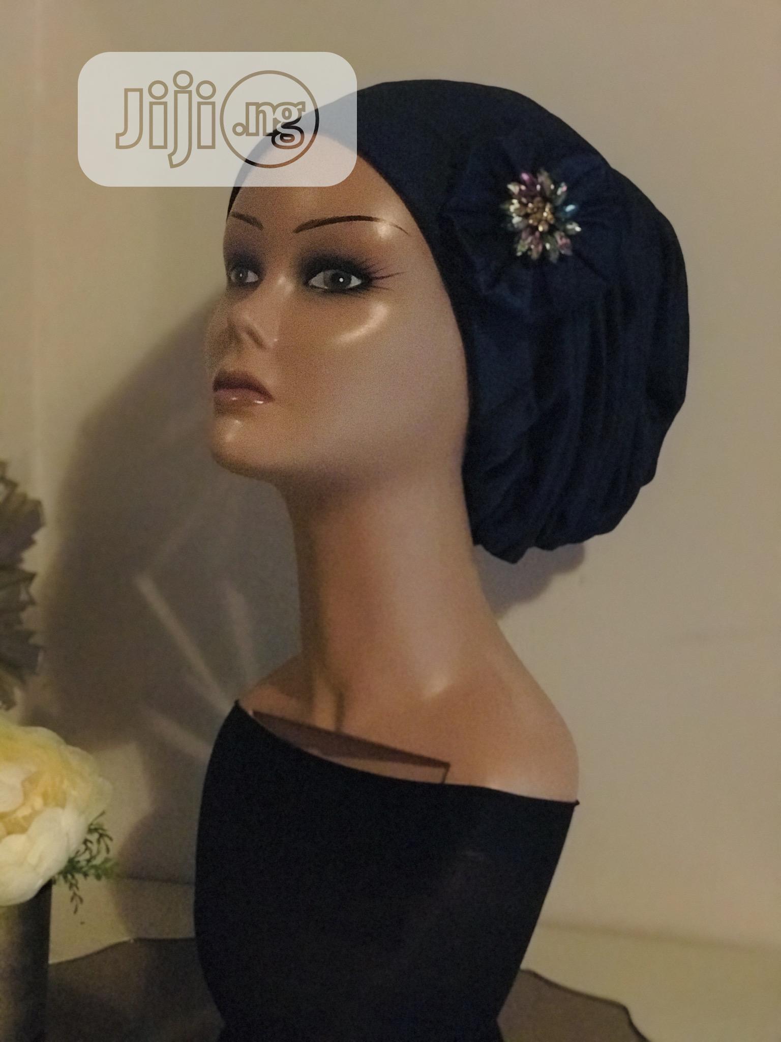 Contoured Turban With Applique