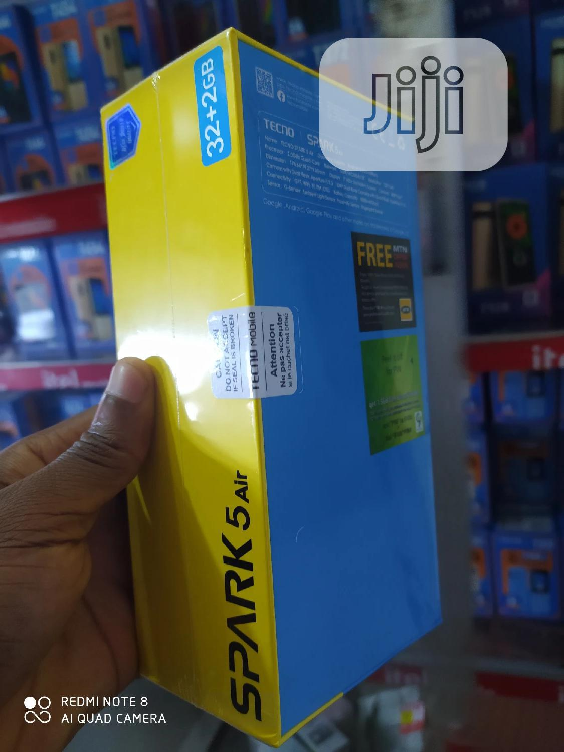 New Tecno Spark 5 Air 32 GB Blue   Mobile Phones for sale in Ikeja, Lagos State, Nigeria