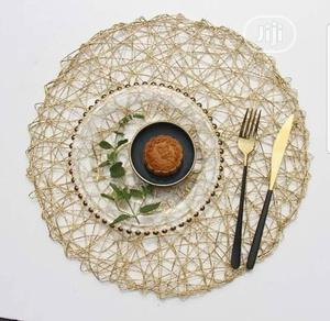 Gold And Silver Wooven Plate Mat | Kitchen & Dining for sale in Lagos State, Ojodu