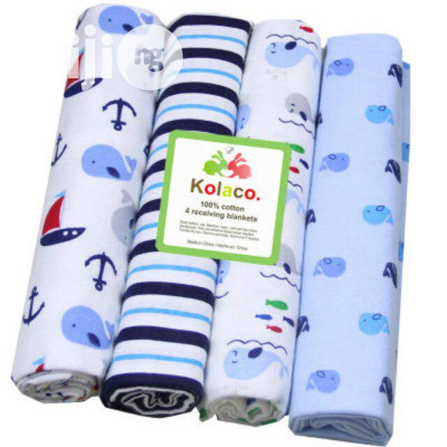 KOLACO Flannel Receiving Baby Blanket 4pcs | Baby & Child Care for sale in Apapa, Lagos State, Nigeria