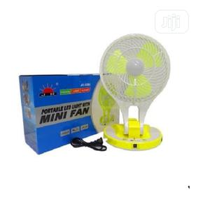Rechargeable Mini Table Fan With Led Light | Home Appliances for sale in Lagos State, Ojodu