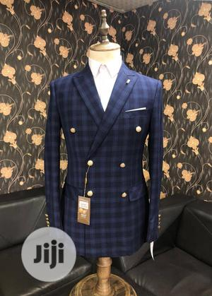 Blue Checkers Double Breasted Suit   Clothing for sale in Lagos State, Lagos Island (Eko)