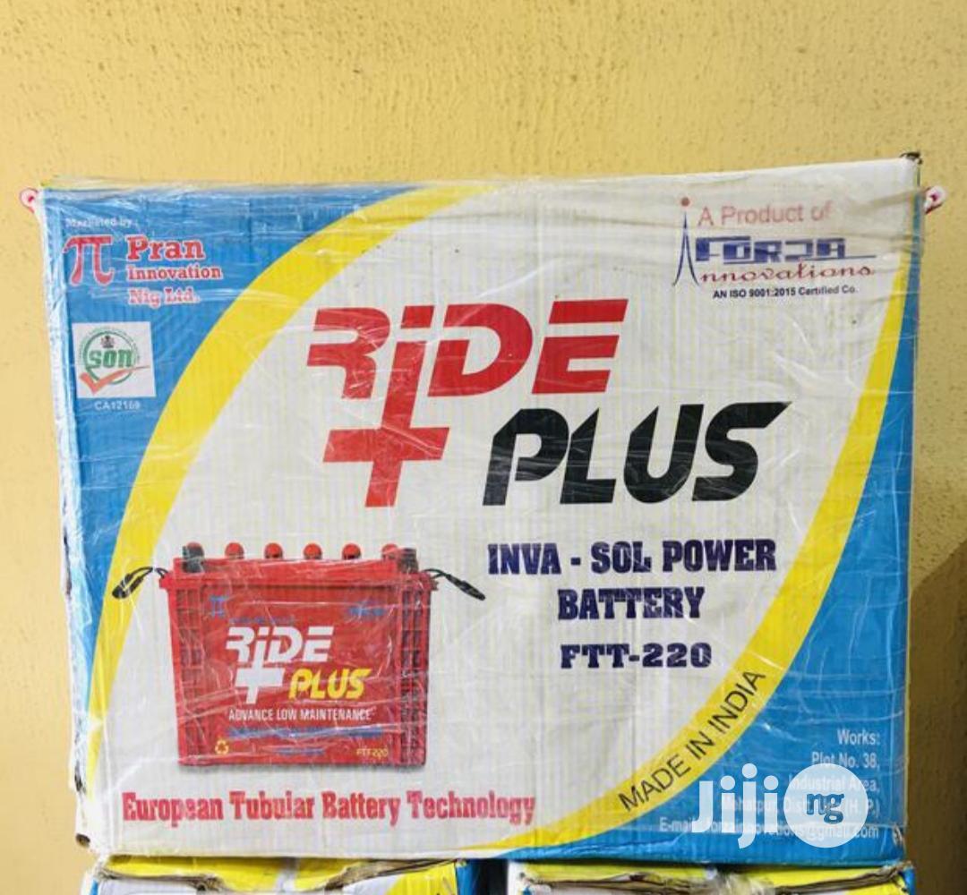 Ride Plus 220ah 12v Tubular Battery