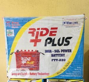 Ride Plus 220ah 12v Tubular Battery   Solar Energy for sale in Lagos State, Ojo
