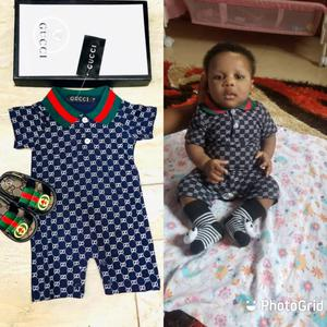Gucci Baby Romper and Shoe | Children's Clothing for sale in Lagos State, Surulere