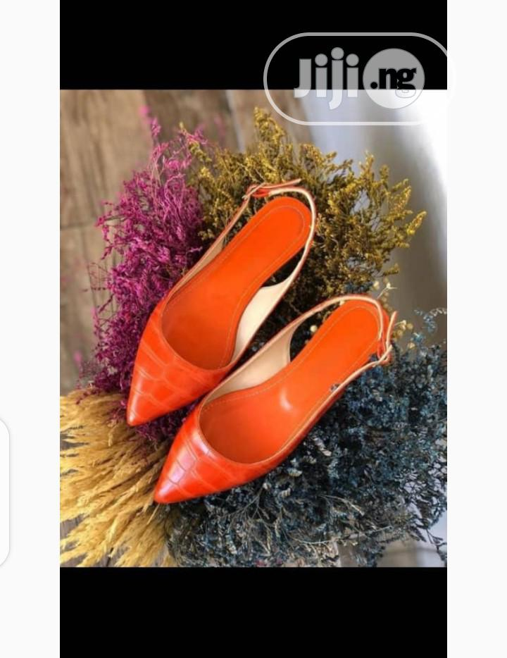 New Quality Turkey Female Orange Shoes   Shoes for sale in Isolo, Lagos State, Nigeria
