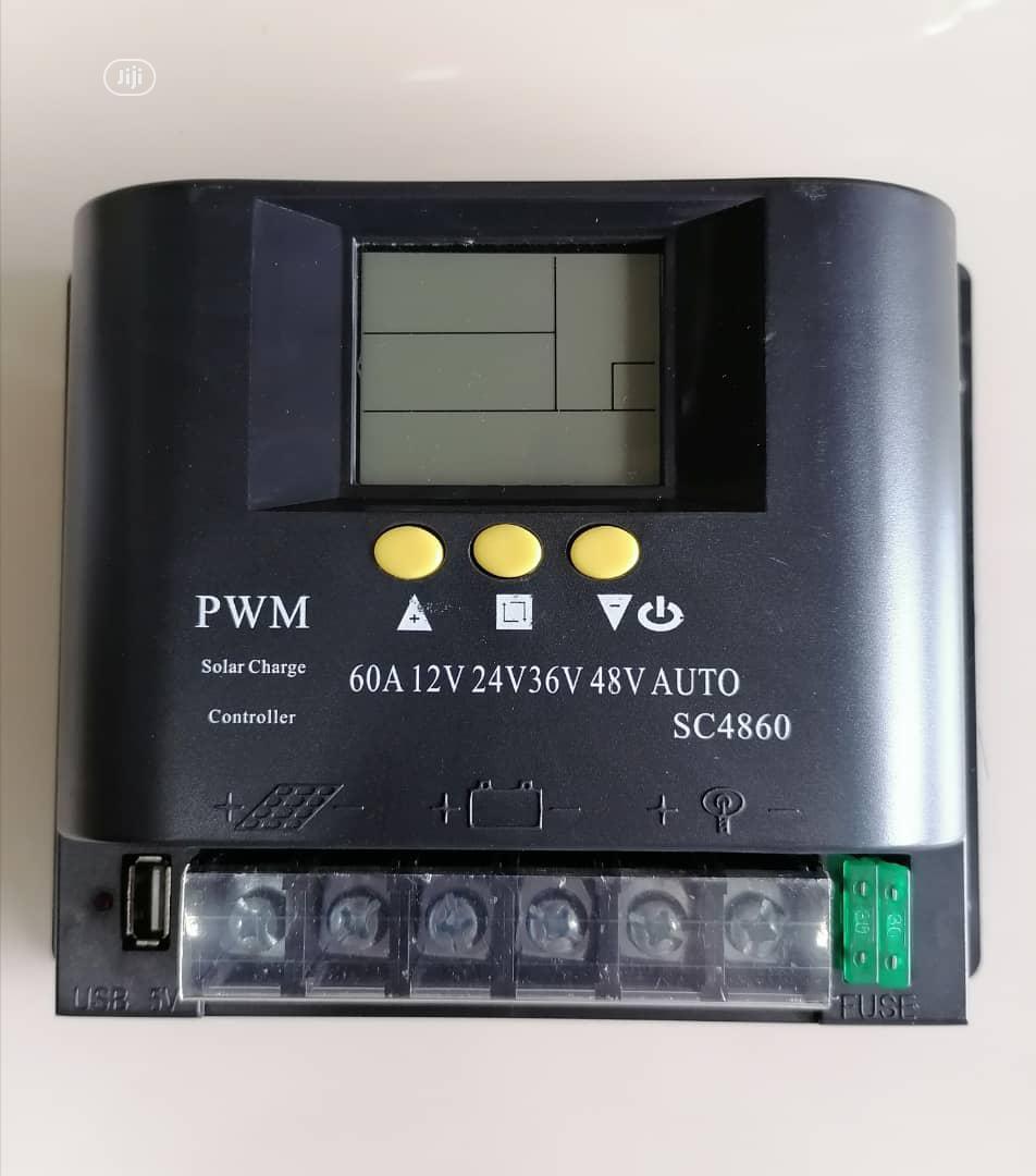 Original 60A 12v 24v 36v 48v AUTO Solar Charge Controller