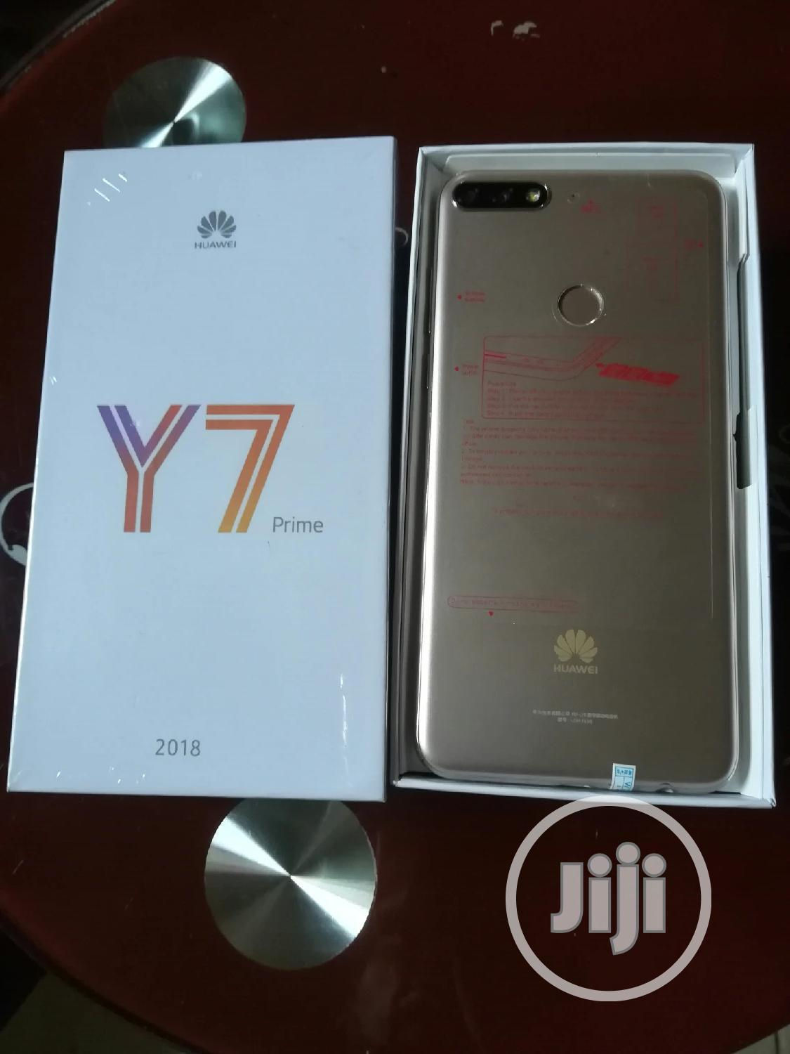 New Huawei Y7 Prime 32 GB Gold | Mobile Phones for sale in Ikeja, Lagos State, Nigeria