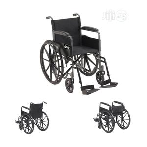 Drive Silver Sport Wheelchair With Half Fold Back 18 Inches   Medical Supplies & Equipment for sale in Enugu State, Enugu
