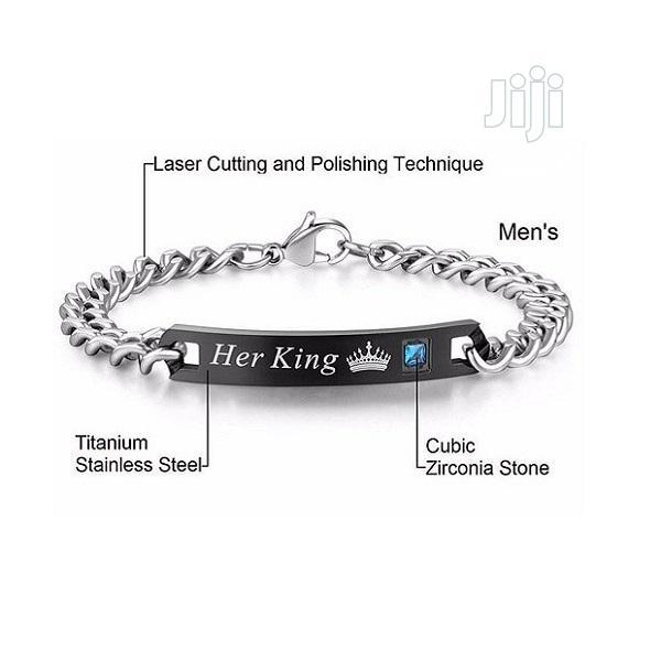 Lover's King Queen Titanium Bracelets | Jewelry for sale in Ikorodu, Lagos State, Nigeria
