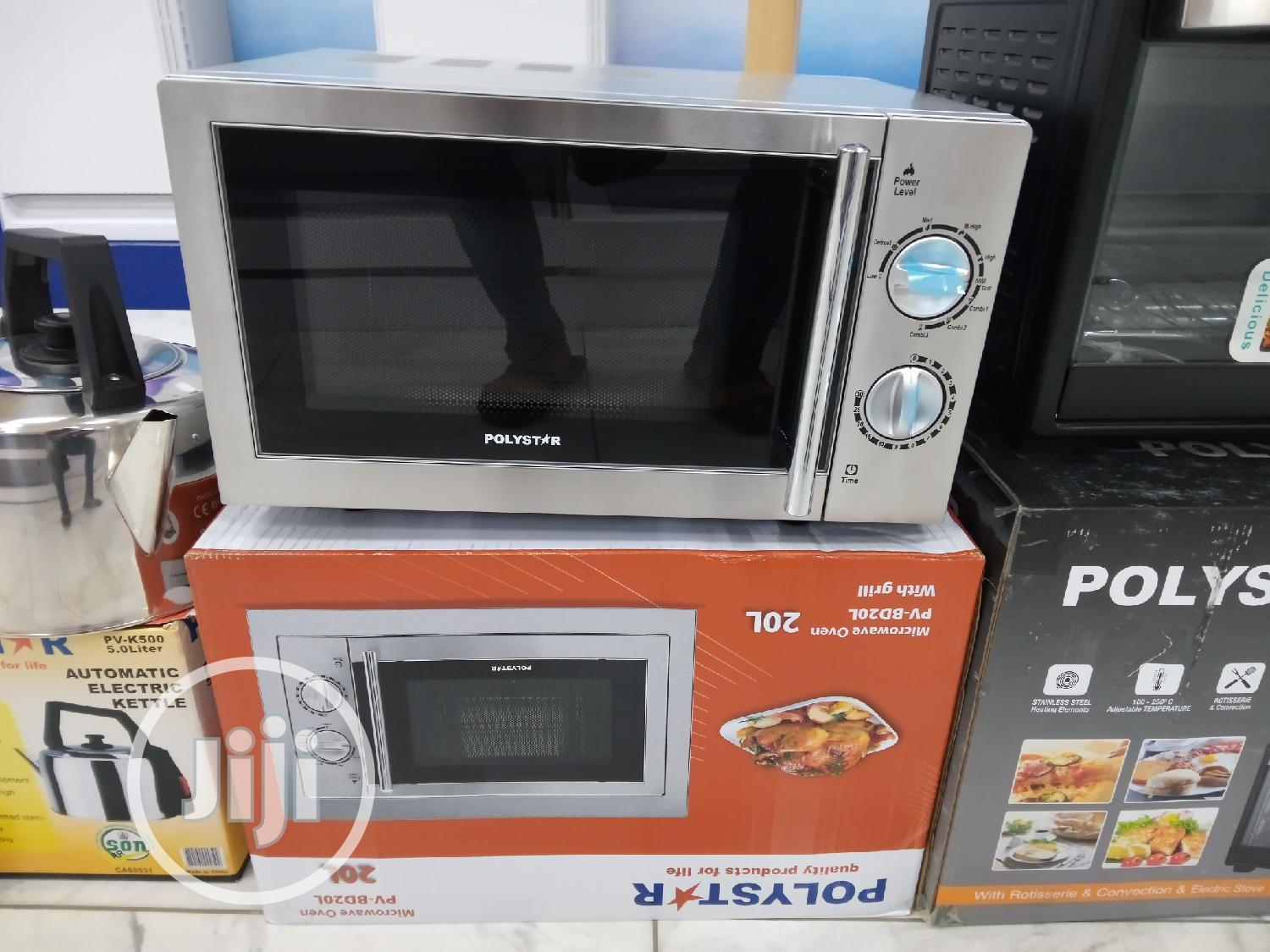 Polystar 20L Microwave With Grill Function and Frame