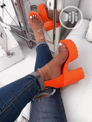 Block Catterpillar Sole Baby Girl Pink Sound Pump Heel   Shoes for sale in Rivers State, Obio-Akpor