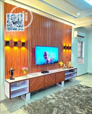 Luxury Media Unit Panel TV Stand With LED Lights | Furniture for sale in Lagos State, Ajah