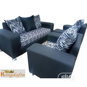 Set of Black Fabric Sofa Chair Seven Seaters | Furniture for sale in Lagos State, Ikeja
