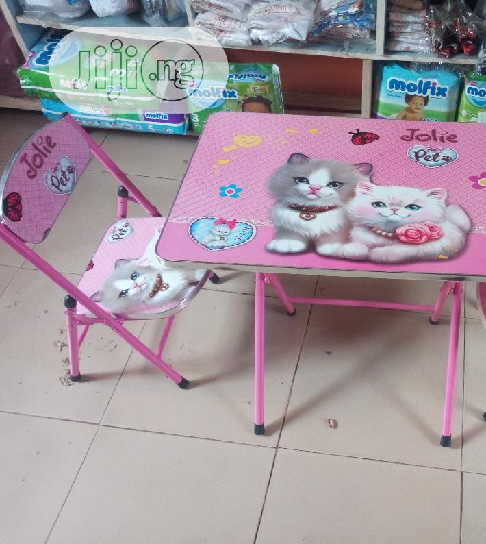 Kid's Cartoon Character Study Table&Chair