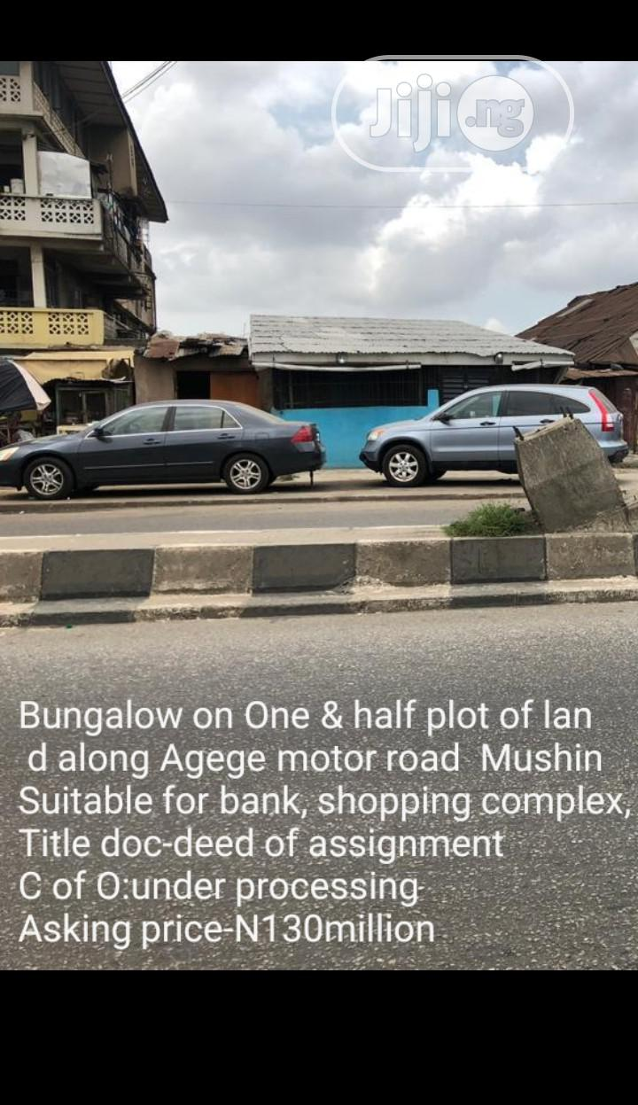 Archive: Bungalow on 1 and Half Plot of Land for Sale at Mushin.