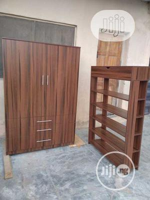 Standard Wardrobe With Shoe Rack | Furniture for sale in Lagos State, Ojo