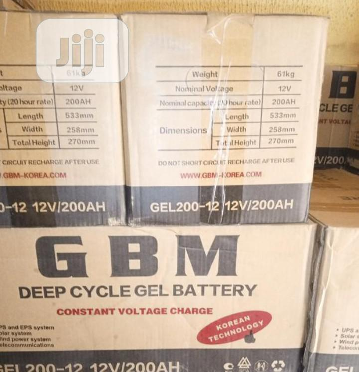 12v /200ah Solar Battery
