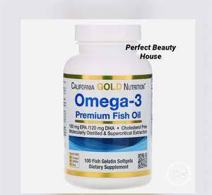CGN Omega-3 Premium Fish Oil, 100 Fish Gelatin Softgels   Vitamins & Supplements for sale in Lagos State, Ikeja