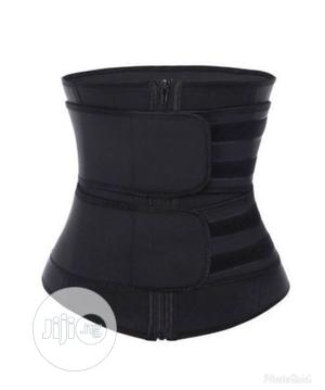 Waist Trainer and Tummy Trimmer-Double Layer - Black | Clothing Accessories for sale in Lagos State, Ikeja
