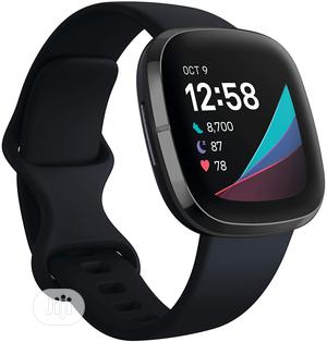 Fitbit Sense Advanced Smartwatch - Black | Smart Watches & Trackers for sale in Lagos State, Ikeja