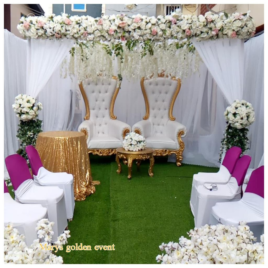 Wedding Party and and Decorated by Mary's Golden Event LTD