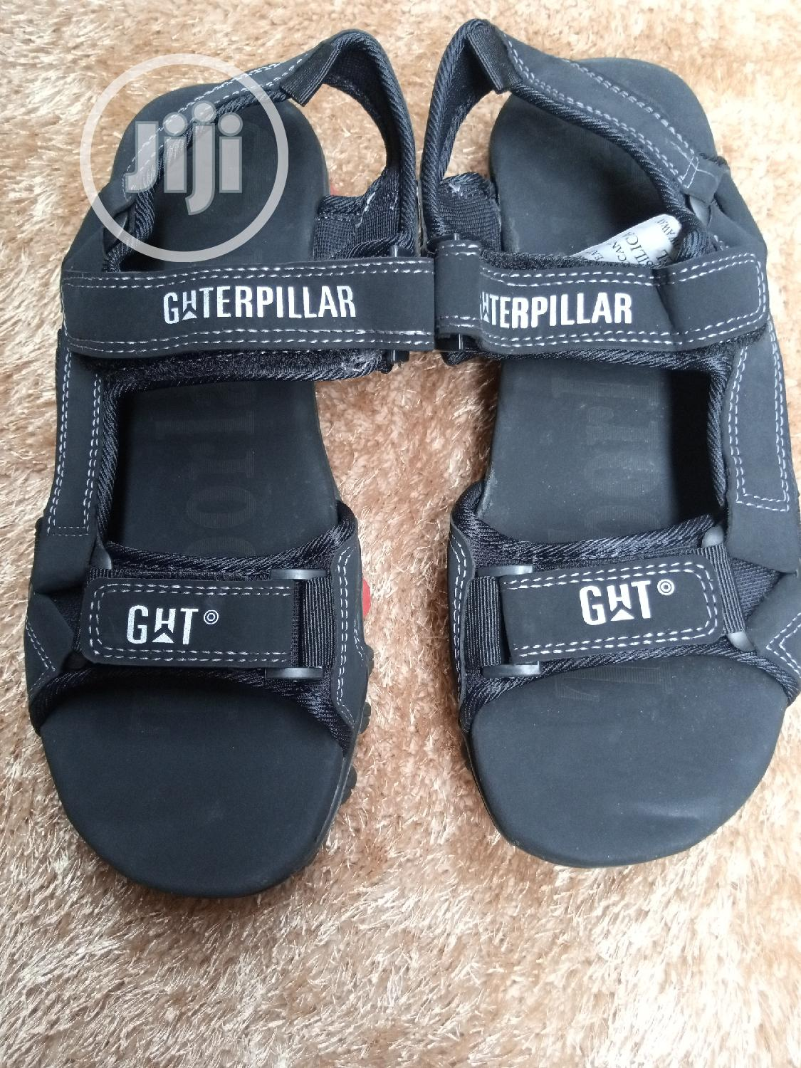 Quality School CAT Sandals Brown and Black   Shoes for sale in Ikorodu, Lagos State, Nigeria