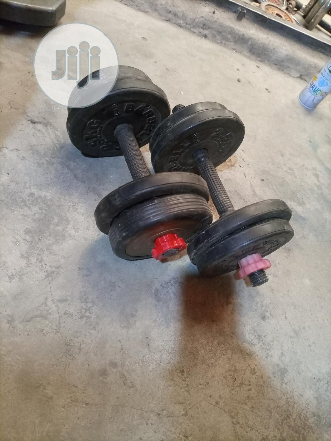 Coated Steel Weight Dumbells | Sports Equipment for sale in Surulere, Lagos State, Nigeria