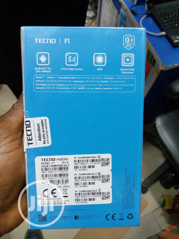 New Tecno F1 8 GB Black | Mobile Phones for sale in Ikeja, Lagos State, Nigeria