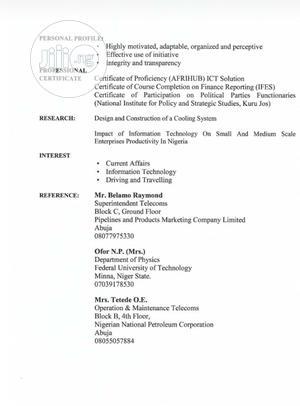 Driver CV | Driver CVs for sale in Abuja (FCT) State, Dutse-Alhaji