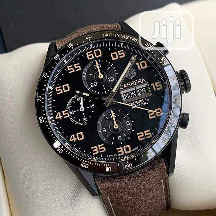 TAG Heuer (CARRERA) Chronograph Leather Strap Watch