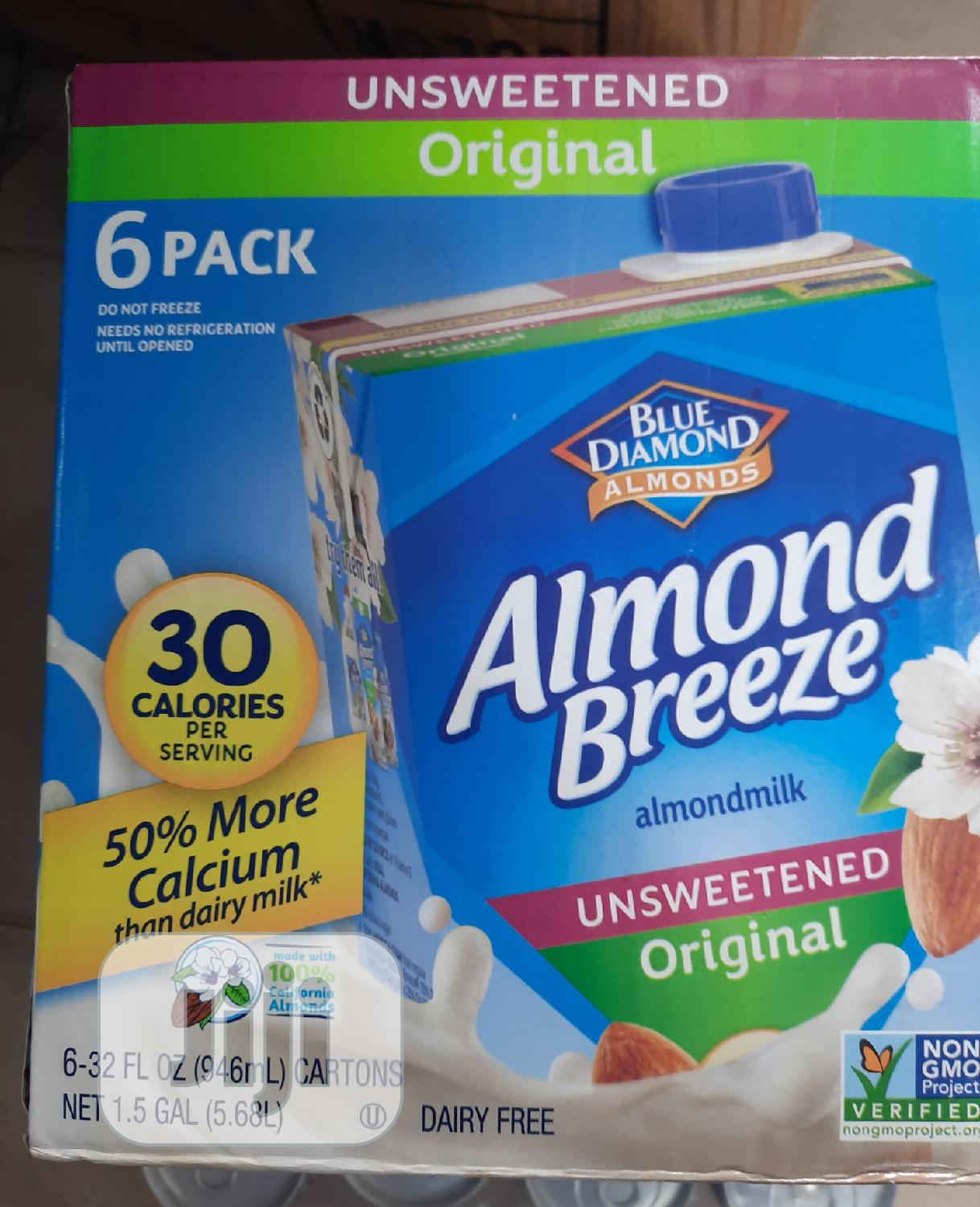 Almond Breeze Unsweetened Almond Milk Carton 6pcs | Meals & Drinks for sale in Surulere, Lagos State, Nigeria