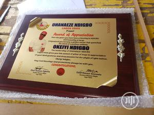 Wooden Award Plaque | Arts & Crafts for sale in Lagos State, Mushin