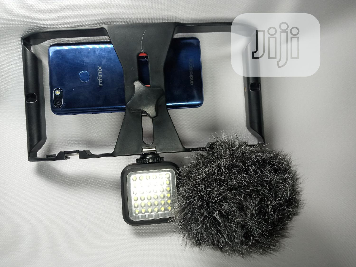 Phone Rig+LED Light+Microphone | Accessories & Supplies for Electronics for sale in Lagos Island (Eko), Lagos State, Nigeria