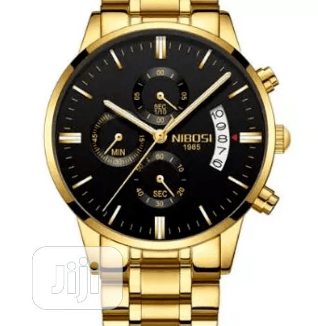 Quartz Men Wristwatch - Gold