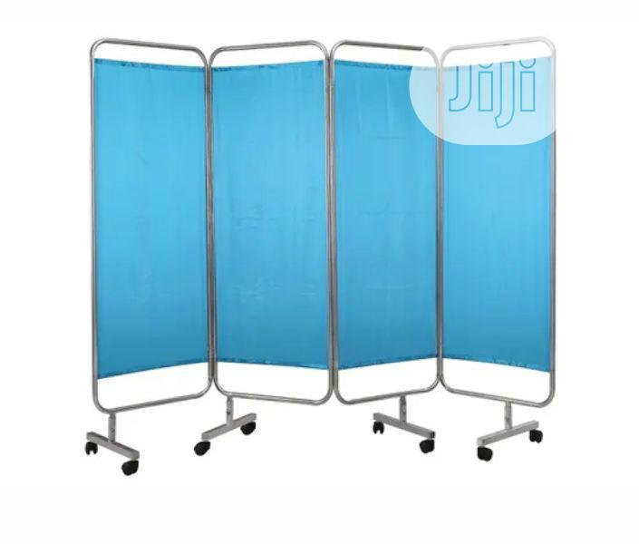 Stainless Steel 4 Folding Medical Ward Screen